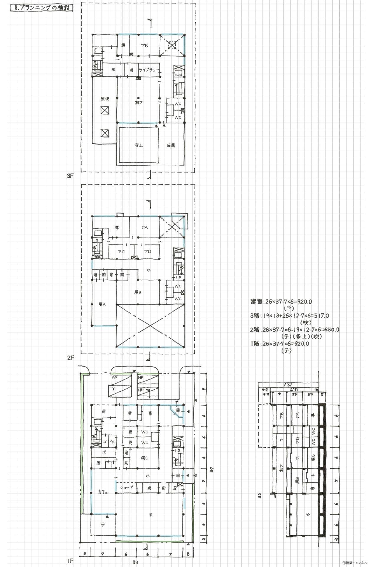 【一級建築士】設計製図の試験『エスキス解答例|プランニングの検討』|令和元年